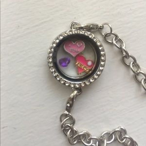 I love you friend floating charm bracelet